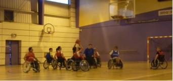 Entrainement basket en fauteuil